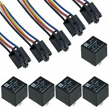 5 x 12V Automotive Changeover Relay 40A 5-Pin SPDT with Socket