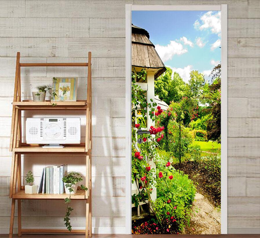3D Pavillon Garten Tür Mauer Wandgemälde Foto Wandaufkleber AJ WALL DE Lemon