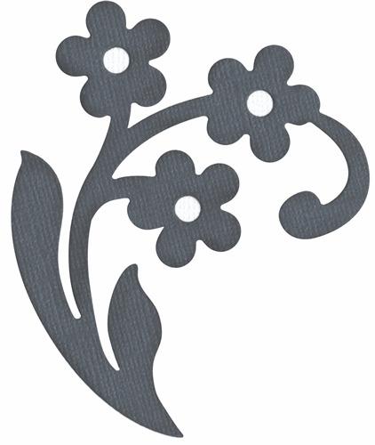 QuicKutz Lifestyle Crafts 4X4 Single Die FLOURISH w//Flowers Formal  REV-0148-S