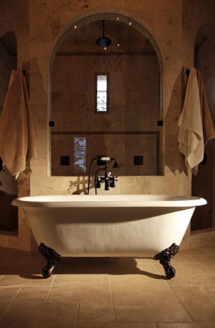 Roll Top Double SLIPPER Cast Iron Bath Accessories Windsor ...