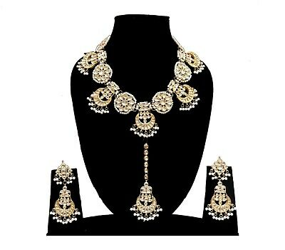 Jewelry Sets Strict Indian Ethnic Look Adorable Necklace With Tikka Earrings Unique Look Mughal Time