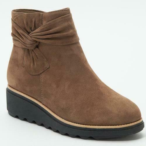 Details about  /British Women Winter Warm Bowknot Wedge Low Heel Ankle Boots Outdoor 42 43 44 D