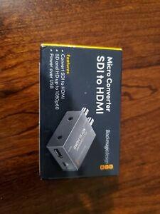 Blackmagic Design Sdi To Hdmi Micro Converter Without Power Supply 9338716005196 Ebay