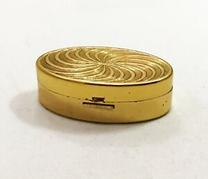 Vintage-1950s-Max-Factor-Gold-Oval-Lipstick-Compact-With-Mirror