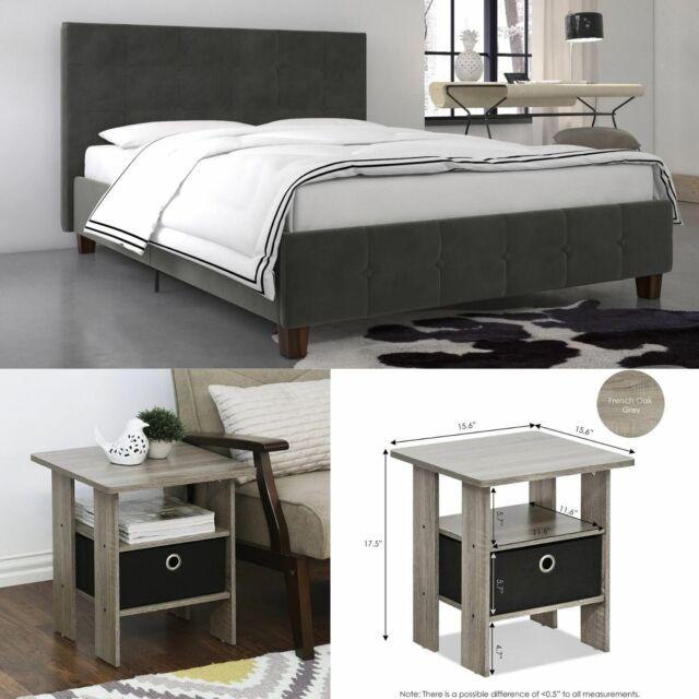 Transitional Design Wooden Furniture Queen Size 1piece Bed Bedroom Set Walnut For Sale Online Ebay