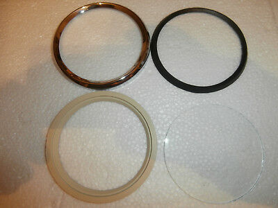 NEW VINTAGE BMW CHROME BEZEL AND RUBBER GASKET FOR VDO SPEEDOMETER NEW