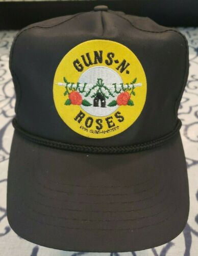 Vintage GUNS N ROSES (1991) Hat Cap Black Snap Bac