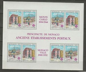 S36504 Monaco Europa Cept MNH 1990 S/S