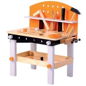 Werkbank aus Holz mit Werkzeug für Kinder Holzwerkbank ...