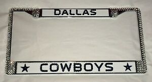 image is loading dallas cowboys football bling license plate frame made