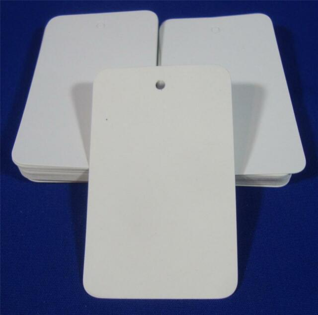 100 White Unstrung Blank Garment Merchandise Price Tags Large 1 3/4 w x 2 7/8