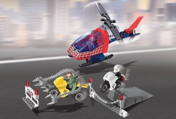 LEGO 4858 Spiderman Doc OCCA's CRIME Spree. RARISSIMO Set. 100% COMPLETO SENZA SCATOLA