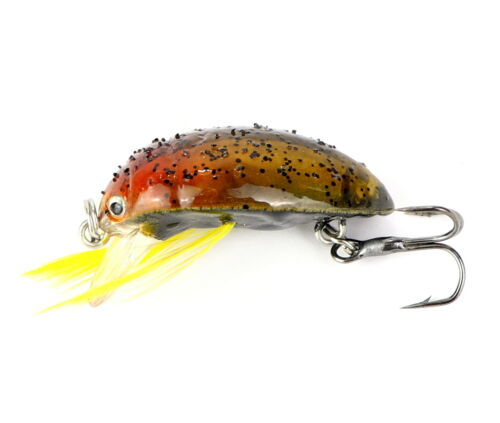 Major Fish Käfer Wobbler Forelle Barsch 3,5 cm Forellenwobbler Feder Döbel