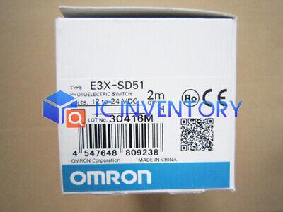 New in box Omron E3X-SD51 optical fiber amplifier E3XSD51 1 year warranty