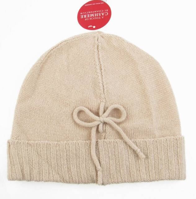 e6c10bd33cb7e CHARTER CLUB Touch Of Cashmere Wool Cable Knit Beanie Hat in Biscotti NWT 44