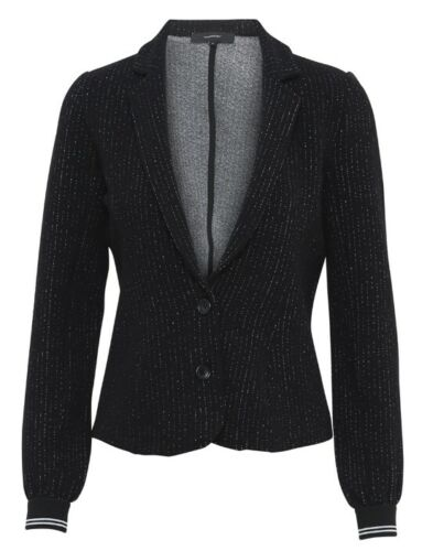 soyaconcept Polly modischer Damen Blazer in Schwarz//Weiß viele Details