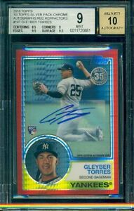 2018-Topps-Chrome-Gleyber-Torres-RC-Rookie-Red-Refractor-Auto-5-BGS-9-10-1983