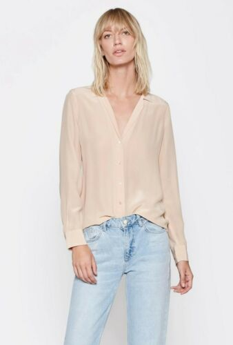 French Nude Size XXS M $230 S NWT Equipment Adalyn Silk Shirt Blouse XS