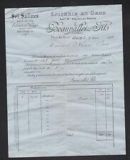 "GIEN (45) EPICERIE en gros / SELS SALINES ""BEAUVALLET / BEZARD"" en 1888"