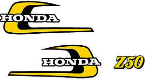 HONDA Z50 1974 Tank  Decals & Sidecover Logo