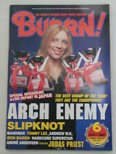 2002/06 BURRN! Japan Magazine ARCH ENEMY/SLIPKNOT/MANOWAR/HARDCORE SUPERSTAR