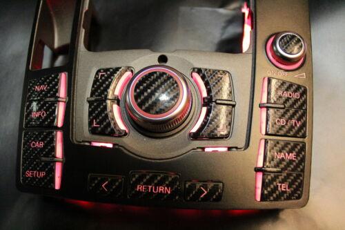 3 G High MMI Autocollant Audi carbone optique avec CD//TV touche a6 4 F MMI 2 g