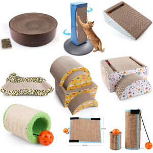 Cat-Scratch-Scratching-Post-Bed-Pad-Mat-Sofa-Lounger-Nest-Kitty-Play-Toy-Catnip