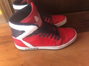 Adidas High Tops Size 8 Original Athletic Shoes Red White Blue On