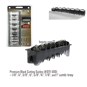 8X Professional Cutting Hair Clipper Guides Guards Premium Combs Trimmers