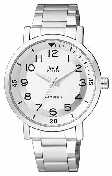 Q&Q Q892J204Y By Citizen Stainless Steel Silver Dial Analog Casual Men's Watch