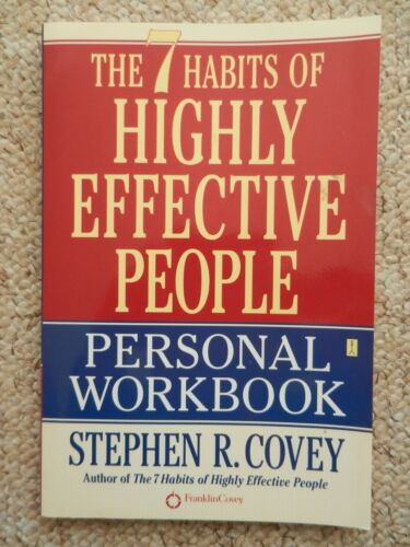 1 of 1 - 7 Habits of Highly Effective People Personal Workbook Covey Life Path Goals Help