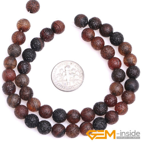 """Natural Vintage Dream Agate Frost Round Loose Spacer Jewelry Making Beads 13/"""""""