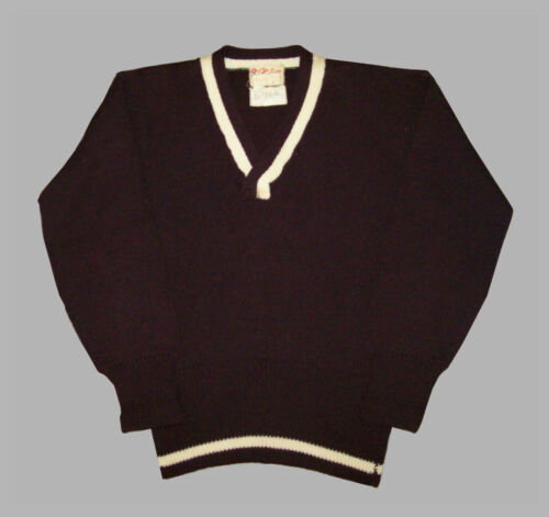 Old Vtg Ca 1940s Catalina Mans Wool Knit Sweater T