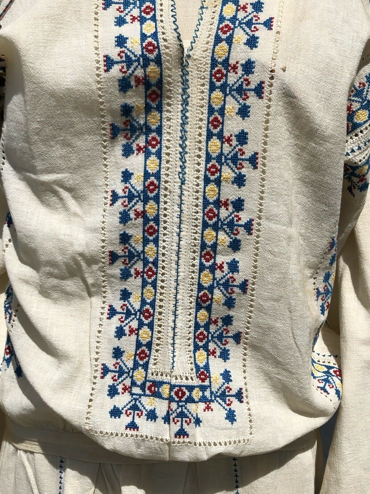 Charming Antique 1920's Hungarian Embroidered Boh… - image 2