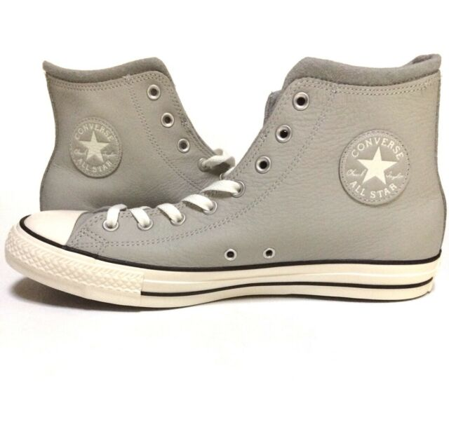 CONVERSE CHUCK TAYLOR ALL STAR SIZE 10.5 ASH GREY EGRET DOLPHIN 153818C  LEATHER 540503454
