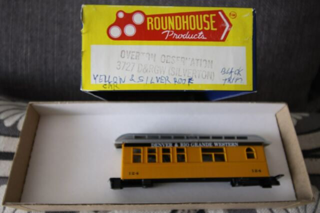 ROUNDHOUSE OVERTON OBSERVATION CAR D.& R.GW (SILVERTON )#3727  HO SCALE - NEW