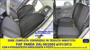 Coprisedili Fiat Panda 169 dal 2003 al 2011 set fodere foderine fodera