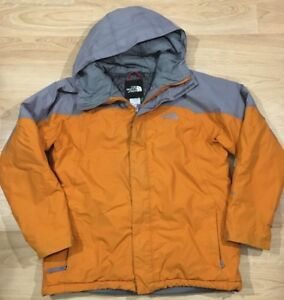 fec753483 Details about THE NORTH FACE Hyvent Winter Coat Boys Size XL Orange And Gray