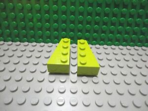 Lego 1 pair of Dark Bluish Gray 4x2 thick wedge plate flared wing ship plane NEW