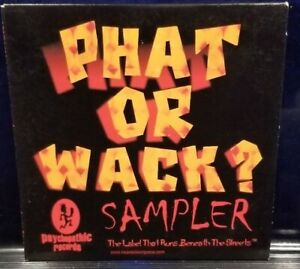 Insane-Clown-Posse-amp-Twiztid-Phat-or-Wack-CD-1st-Press-dark-lotus-Sampler-ICP