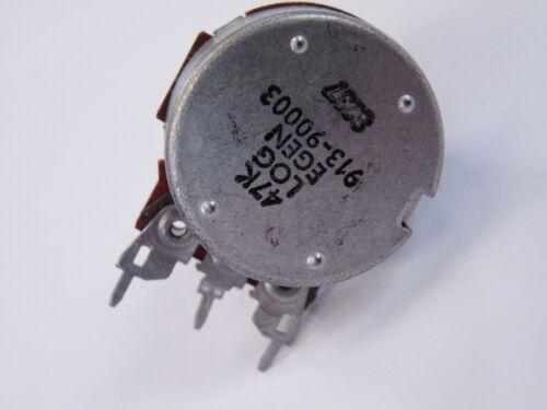 Egen 24mm Potentiometer 47K Log Pot 6mm serrated spindle Tactile Click Turn CD16