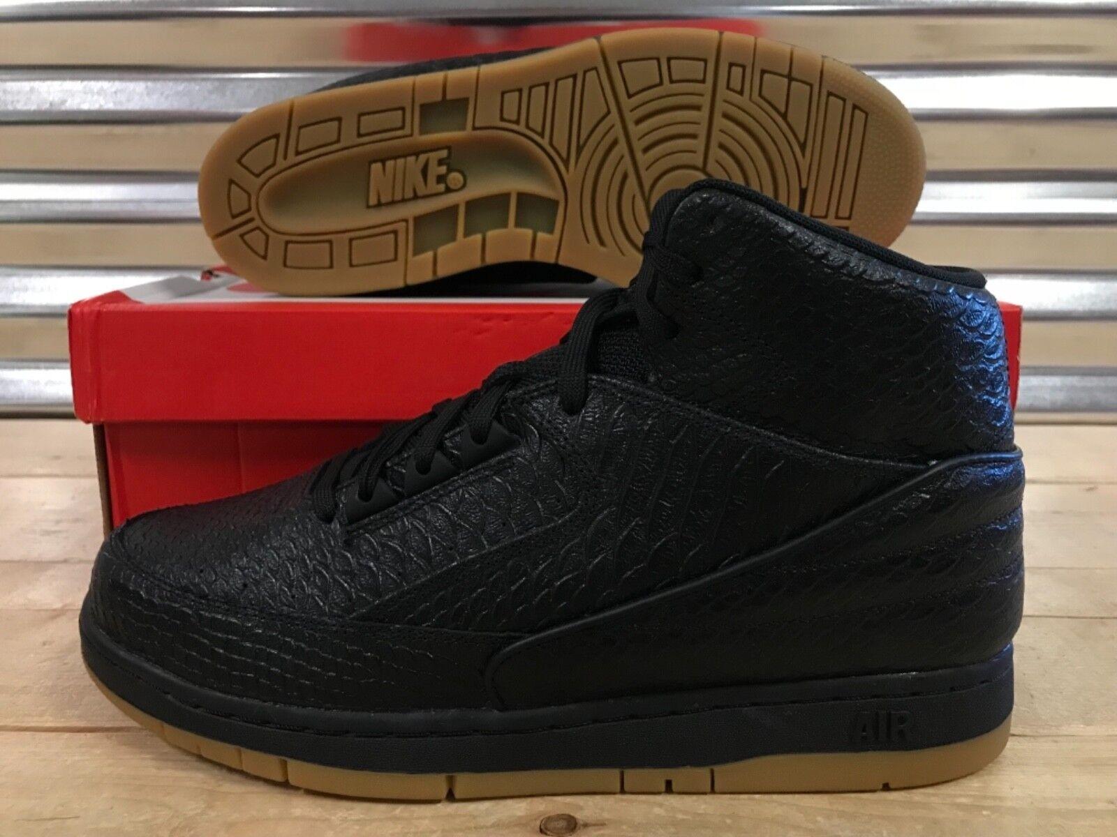 Nike Nike Nike Air Python Premium scarpe Snakeskin Leather nero Gum SZ ( 705066-001 ) 3eeb09
