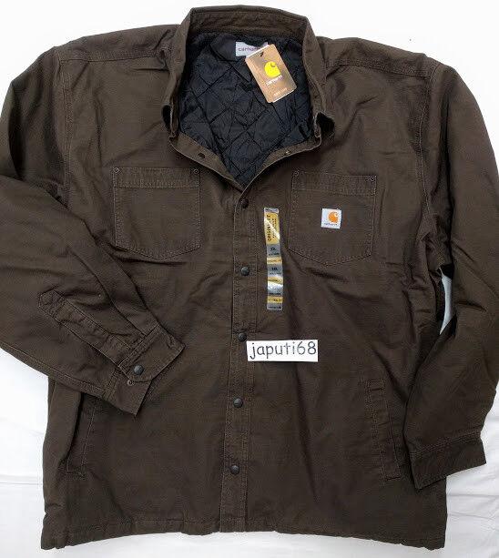 Carhartt Mens Chatfield Ripstop Quilt Lined Shirt Jac Size 4X DCF [BX57-1466]