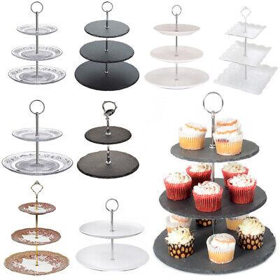 Consegna Veloce Tè Pomeridiano Cake Stand Display Piatto Dessert Cupcake Festa Stoviglie Matrimonio-mostra Il Titolo Originale Colori Fantasiosi