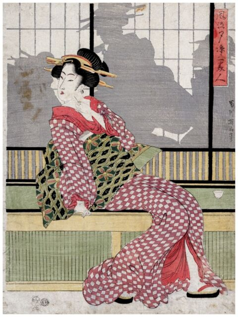 High Quality POSTER on Paper or Cotton Canvas.Home Decor.Asian art.Geisha.3804