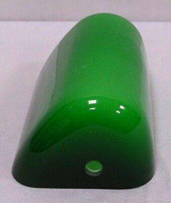 Vetro ricambio Lampada ministeriale studio tegola verde 15 x 10 cm mis.piccola