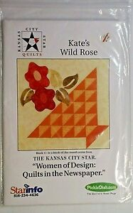 Kate's Wild Rose Quilt Square Sewing Quilting Pattern Kate Marchbanks : wild rose quilt shop - Adamdwight.com