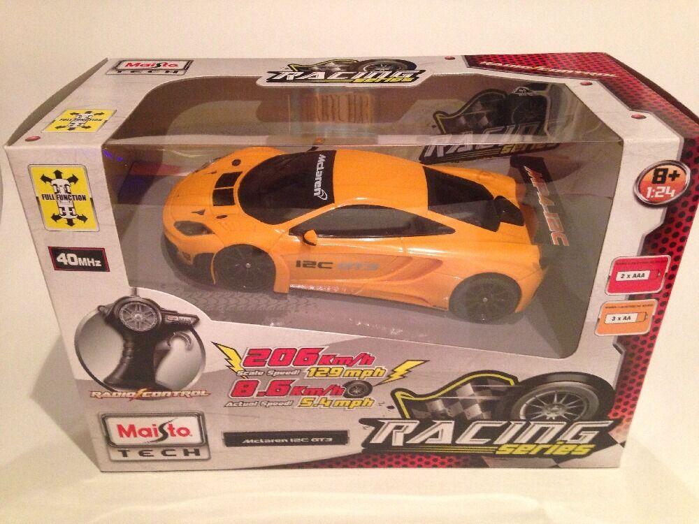 McLaren 12c GT3 Maisto Tech R C Full Function 1 24 Scale New