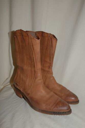 Morichetti Gold Leather Boots Cowboy Boots Ankle … - image 1
