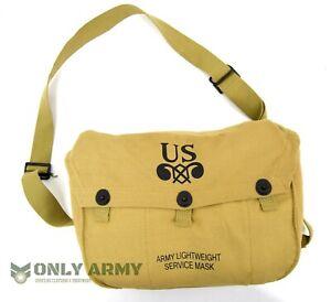 US-Army-WW2-Gas-Mask-Bag-For-M4-Gas-Mask-1940-039-s-Webbing-Satchel-Shoulder-Bag-M6